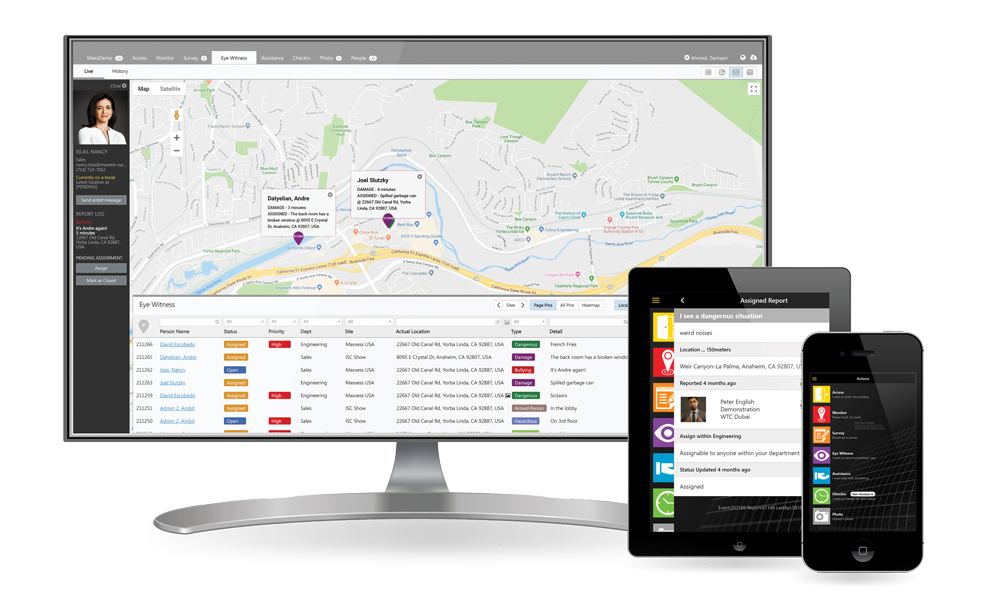 Product image of Maxxess InSite Event Response Management platform